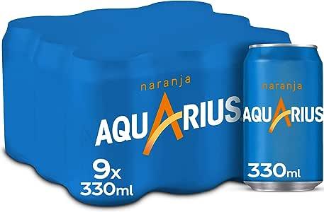 Aquarius Naranja Lata - 330 ml (Pack de 9): Amazon.es