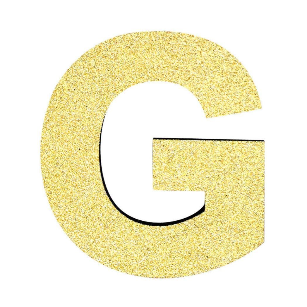 TM DIY Foam Gold Letters Alphabet Self Adhesive Wall Sticker for Wedding Birthday Party Style-A HP95