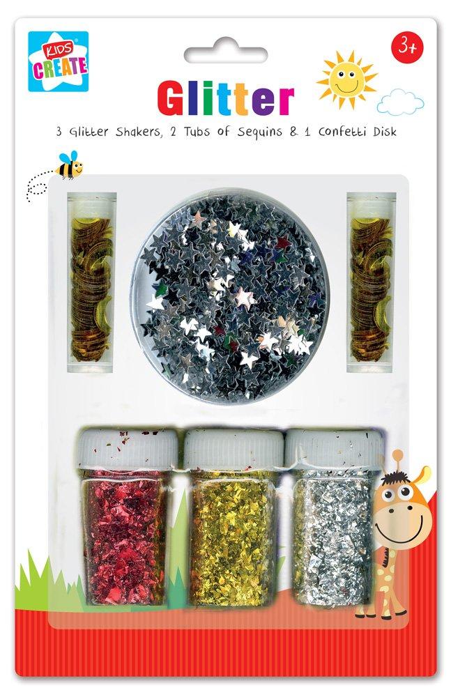 Anker Kids Create/Arts Manualidades y con Purpurina y Confeti Set, de plástico,, 29,7x 21x 2cm GCSE