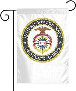 CHSKWFKV United States Navy Chaplain Corps Garden Flag 1218 Home Decoration Double Vivid Flag