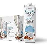 Real Coco Original Coconut Milk 1L, 100% USDA Organic Coconut Milk, Dairy & Soy Free, Vegan, Keto and Paleo Friendly, Plant Based (6-pack, 1L)