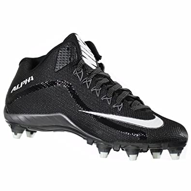 NIKE ALPHA PRO 2 3/4 D BLACK/GREY/WHITE MENS FOOTBALL CLEATS