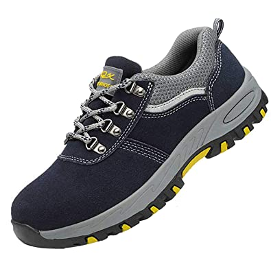 b3879de9e4cc7 Steel Toe Work Safety Shoes Mens Womens Breathable Puncture Proof  Industrial Construction Shoes Kevlar Sole Footwear
