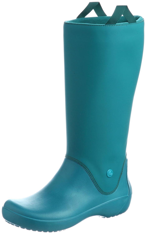 Crocs Women's RainFloe Boot B00B4EXTOA 5 B(M) US|Juniper / Juniper