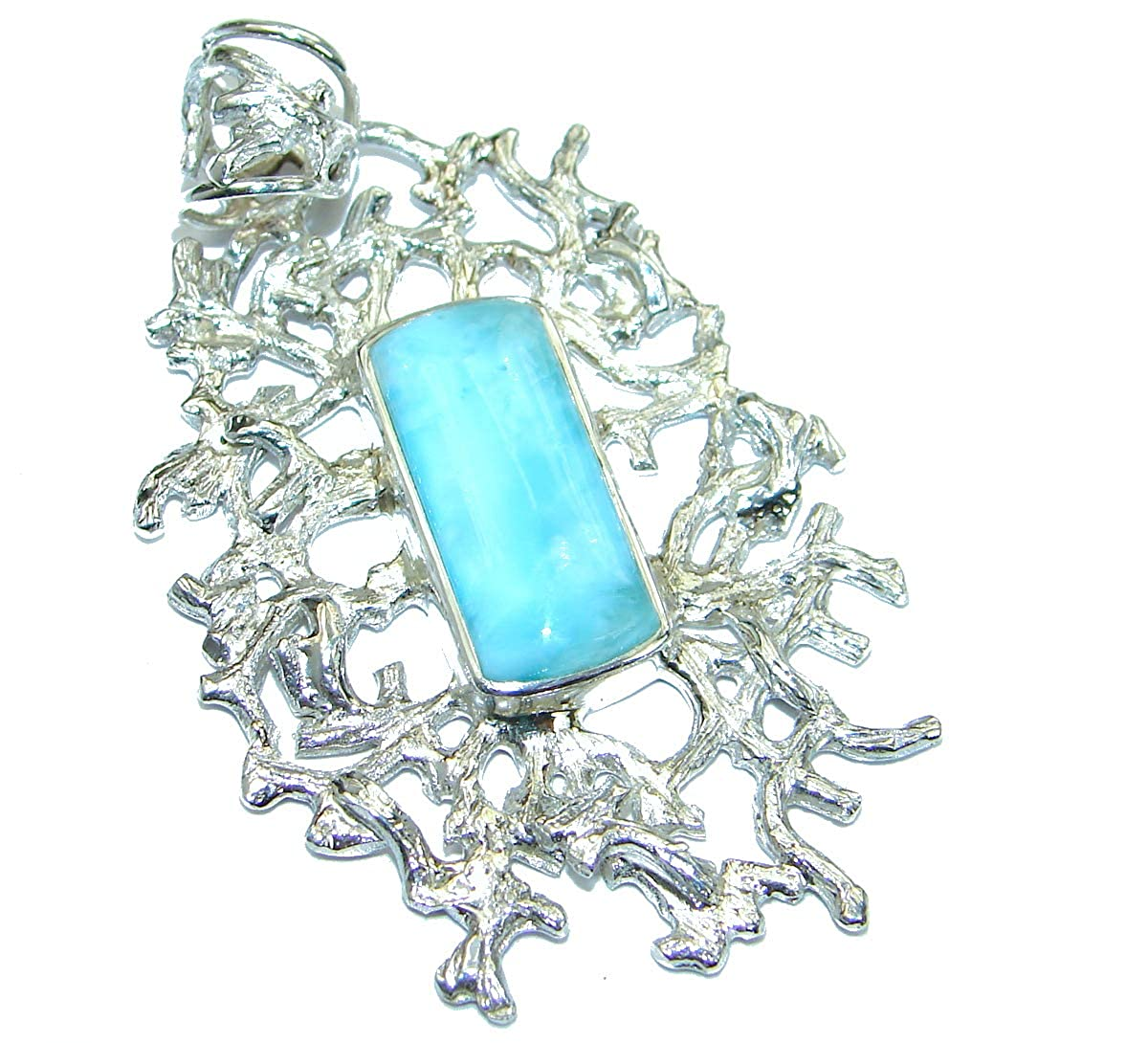 Larimar Women 925 Sterling Silver Pendant Box