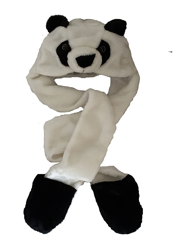Enfants Enfants fourrure animale chef Chapka Bois Echarpe Snood Gants /à ours panda