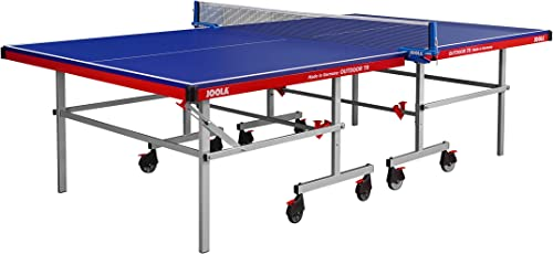 JOOLA Outdoor TR – Table Tennis Table with Waterproof Ping Pong Net Set – German Engineered 22mm Aluminum Composite Outdoor Ping Pong Table – Indoor and Outdoor Compatible