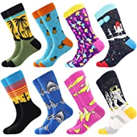 Funny Socks for Men & Women ,Fun Socks ,Crazy Colorful Cool Novelty Cute Dress Socks ,Food Animal Space Socks
