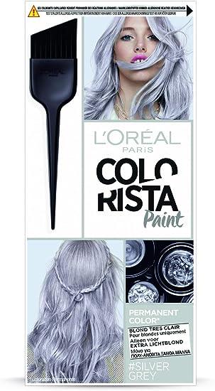 LOréal Paris Colorista 3600523688616 coloración del cabello Gris - Coloración del cabello (Gris, Silver Grey, Mujeres, 1 pieza(s), Pelo rubio, Caja)
