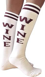 product image for Chrissy's Socks Women's WINE Knee High Socks White/Maroon