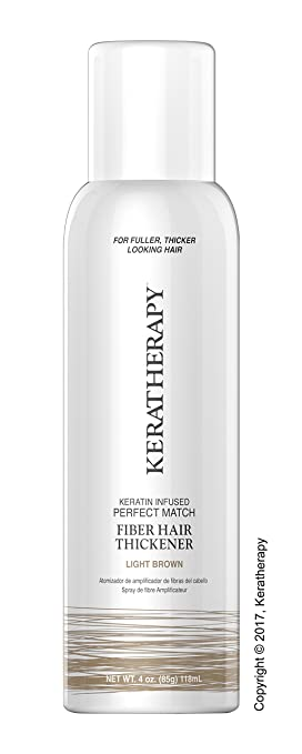 Keratherapy FIBER THICKENING SPRAY 4 OZ Keratin Infused Perfect Match for Fuller, Thicker Looking Hair