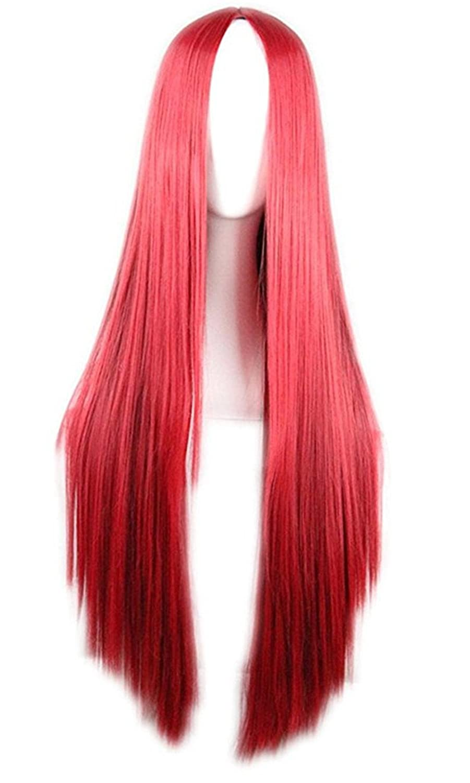 75cm Long Hair Heat Resistant Straight Cosplay Wig(Black) BEAUTYWIG JF001-hs
