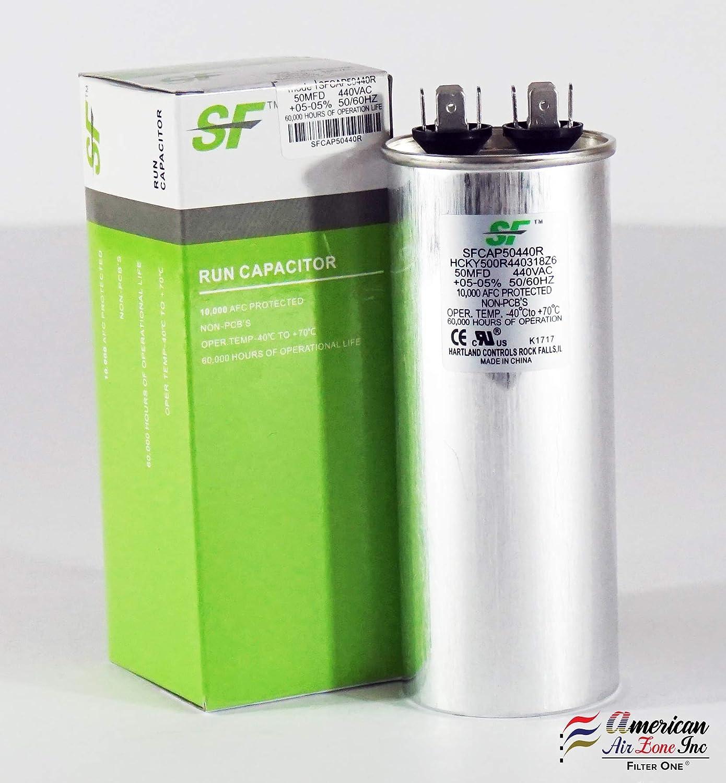 Round for Motor /& Com 35+5 MFD TRANE Dual Run Capacitor 2 Pack 370//440V