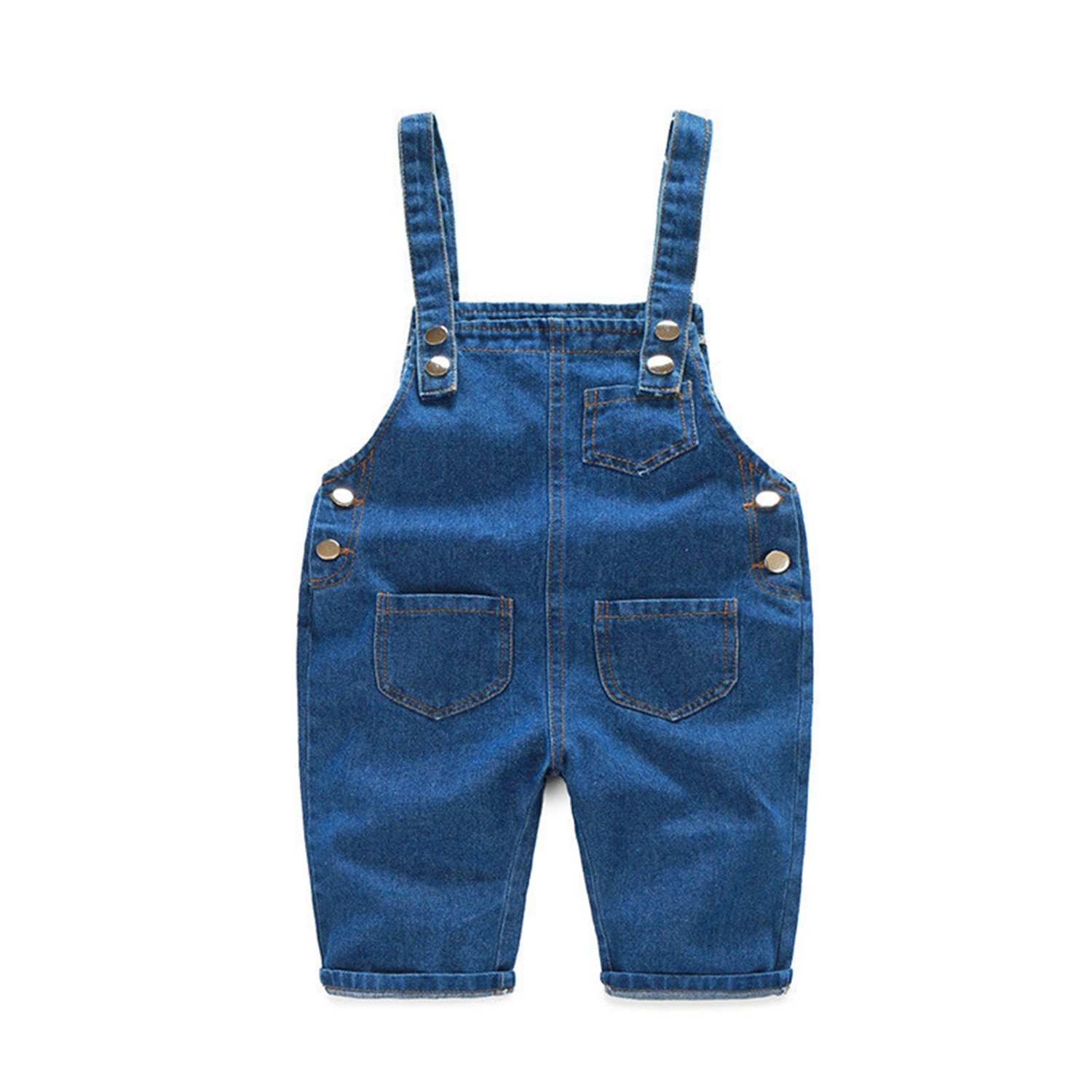 Hoared New New Denim Overalls For Girls Spring Pants For Baby Boy Beach Shorts Summer Denim Shorts Blue 3T