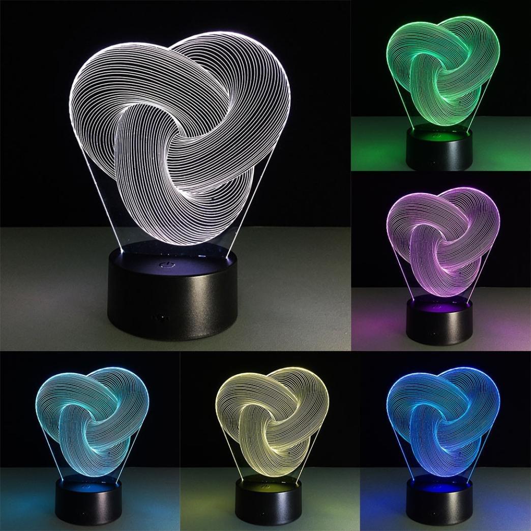 Nightlight、yjydada 3d Illusion Visualナイトライト7色変更LEDデスクランプ寝室ホームデコレーション B07BLXH9Y7 15914