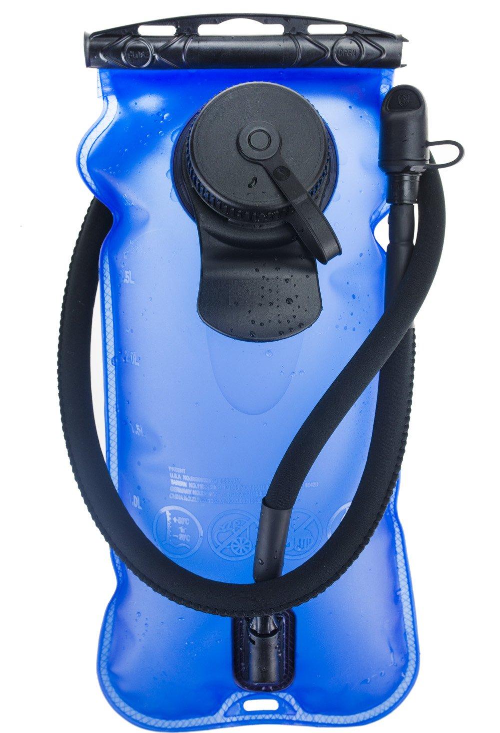 WACOOL 3L 3Liter 100oz BPA Free EVA Hydration Pack Bladder, Leak-Proof Water Reservoir (Blue(Double Opening)) by WACOOL