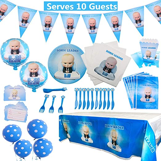 Baby Boss Party Supplies Set 92 Pack Kit de vajilla de fiesta de ...