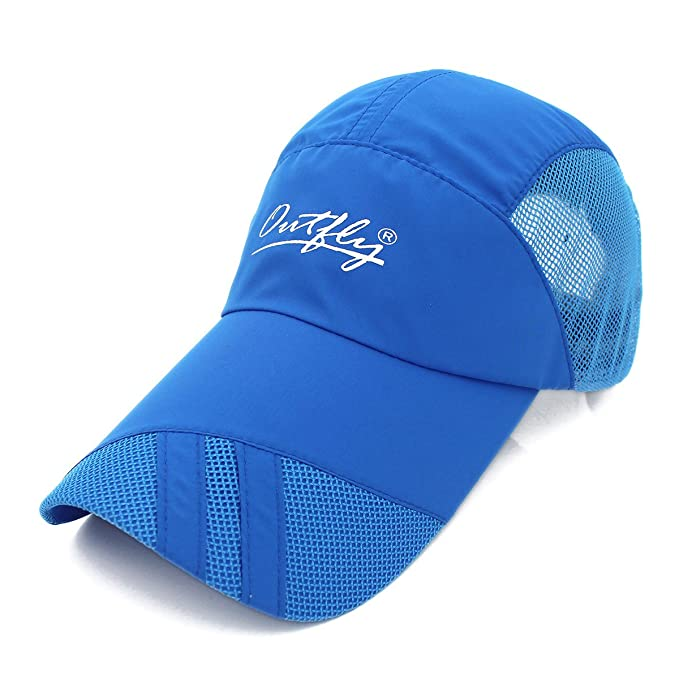 Outfly Gorra de béisbol ligera Quick Dry Gorra de deporte al aire libre Running Alargar Brim Sun Protection Sombrero… KRifJqJME