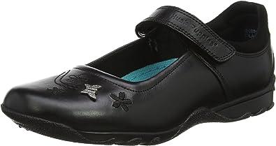 Hush Puppies Boys Black Leather Slip On School Shoes Bespoke