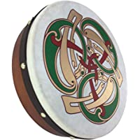 McNeela Bodhran celta irlandés tradicional de 12 pulgadas con diseño de sonidos