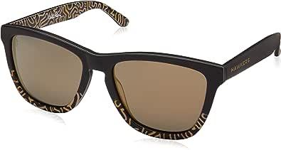 Hawkers Men's Keith Haring Bicolor Gold KHARX02 Rectangular Sunglasses, Gold, 12 mm