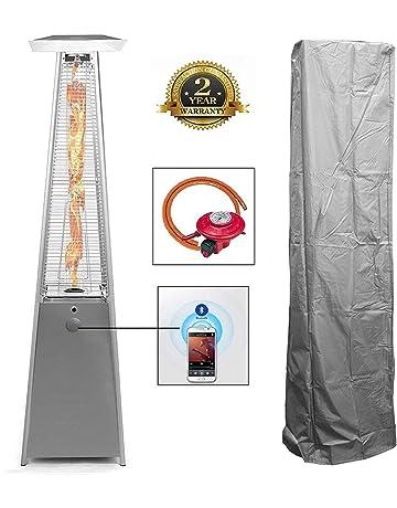 227cm Vinyl Pyramid Real Flame Patio Gas HeaterWaterproof Cover Garden  Outdoor