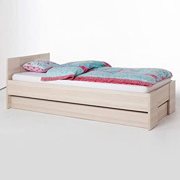 Letto singolo componibile modulare in kit legno frassino LT2223 ...