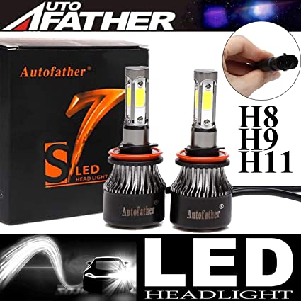 Smart Forfour 100w Clear Xenon HID Low//Side Headlight Headlamp Bulbs Set