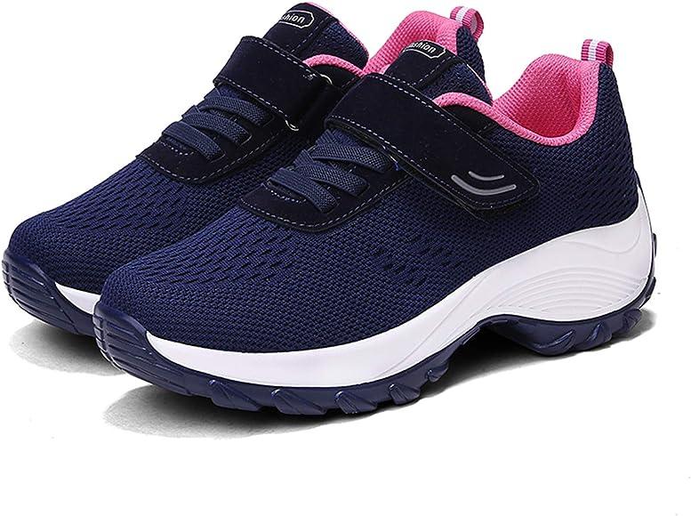 Zapatillas Deportivas de Mujer Zapatos de Running Gym Sneakers Zapatos Tacón(Azul,34 EU): Amazon.es: Zapatos y complementos