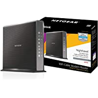 NETGEAR Nighthawk AC1900 (24x8) DOCSIS 3.0 WiFi Cable Modem Router Combo For XFINITY Internet & Voice (C7100V) Ideal for Xfinity Internet and Voice services (Renewed)