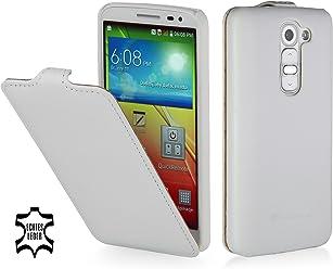 StilGut UltraSlim Case, custodia in vera pelle per LG G2 Mini, bianco vintage