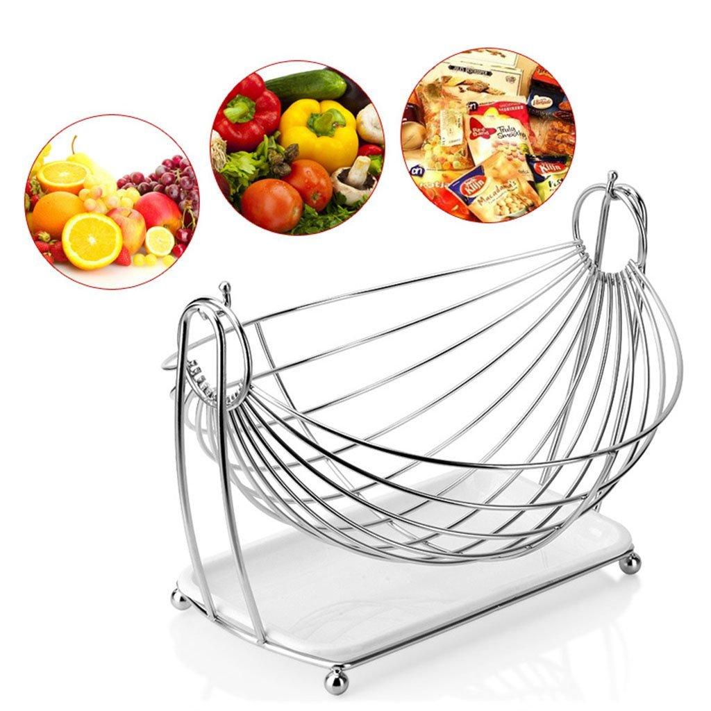 He Xiang Ya Shop Stainless steel drain rack living room fruit plate vegetable drain basket snack cradle by He Xiang Ya Shop (Image #6)