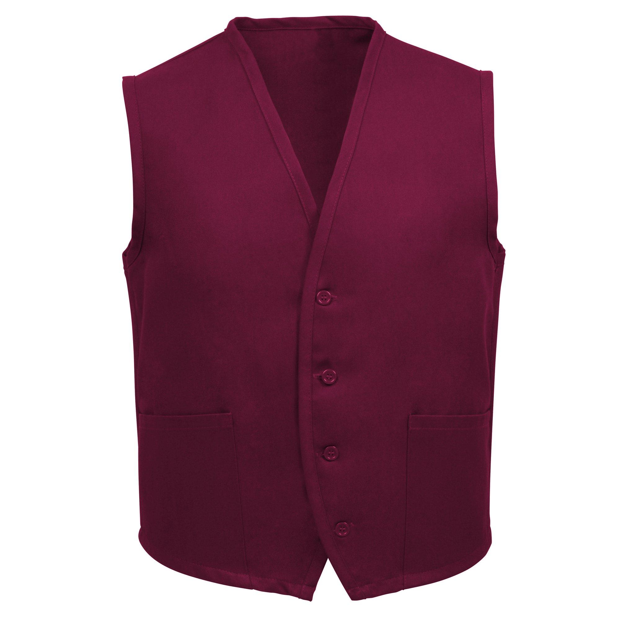 Fame Adult's 2 Pocket Vest-Burgundy-3XL