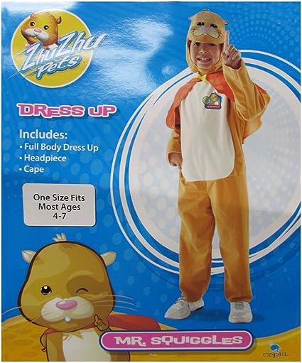 Amazon Com Cepia Boys Zhu Zhu Pets Mr Squiggles Child Costume Orange One Size Toys Games