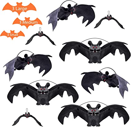 Décoration Halloween Araignée Toile d/'araignée chauve-souris Parti Prop Costume Décor Effrayant Effrayant
