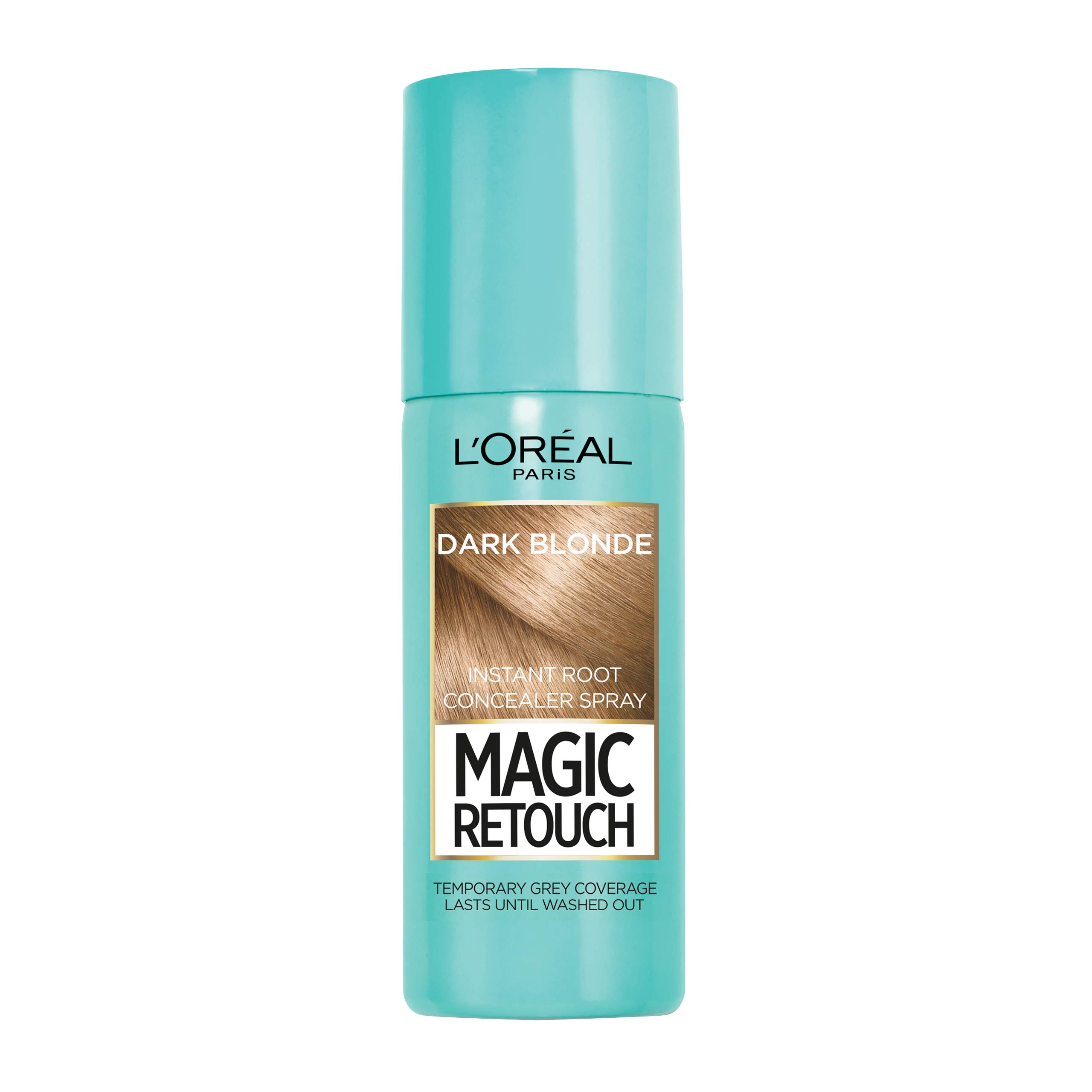 L'Oréal Magic Retouch Instant Root Concealer Spray, Ideal for Touching Up Grey Root Regrowth, 75 ml, Colour: Dark Blonde
