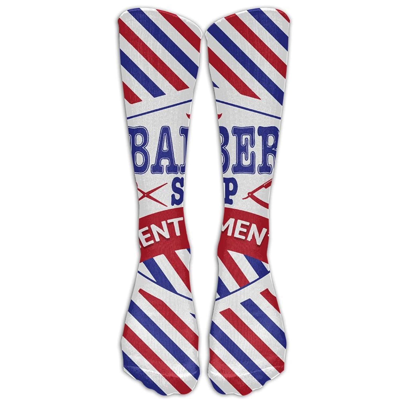 Abbigliamento sportivo shengpeng Mens Womens Novelty Vintage Emblem of Barber Shop Flag Long Sock Athletic Calf High Crew Soccer Socks Sports