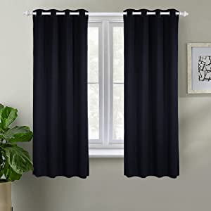 WITHKIYA Solid Blackout Window Curtain Panels 1.6