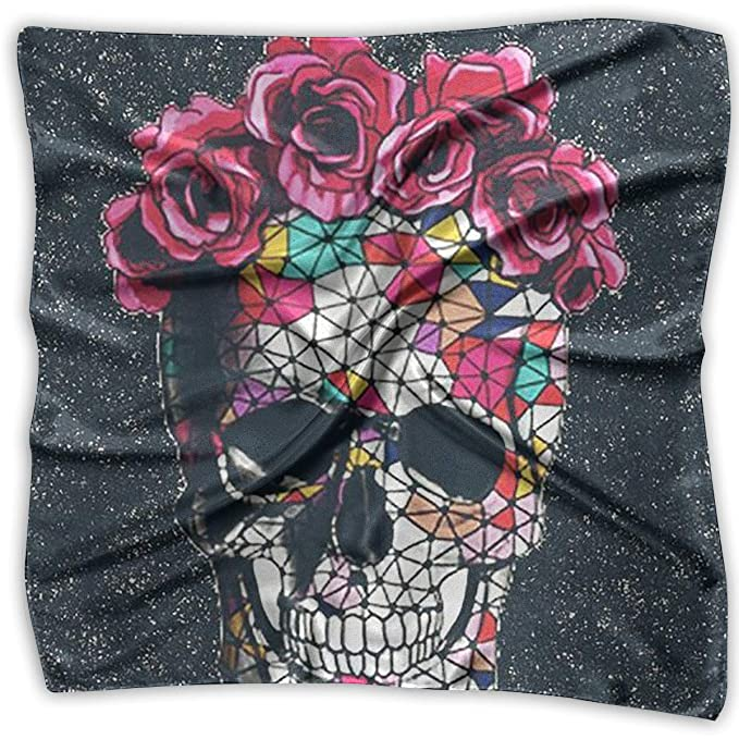 7f3af276db6e Handkerchiefs Scarf Halloween Flower Skull Novelty Shawl Bandanas ...