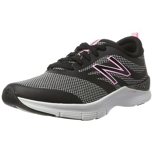 New Balance 713 Graphic Trainer Zapatillas Deportivas para Interior Mujer Negro Black Pink 37 EU
