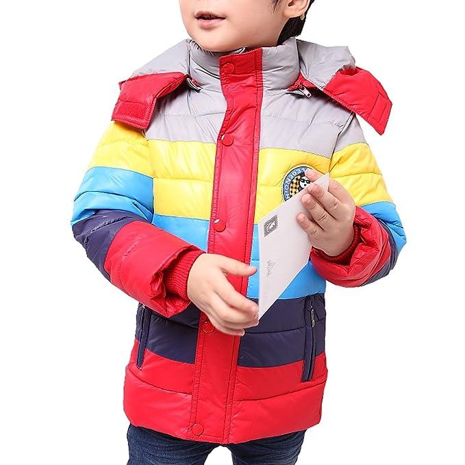 MISSMAY Kids Big Boys Down Puffer Chaqueta Abrigo Parka Capucha Outwear Traje de Grosor Suave