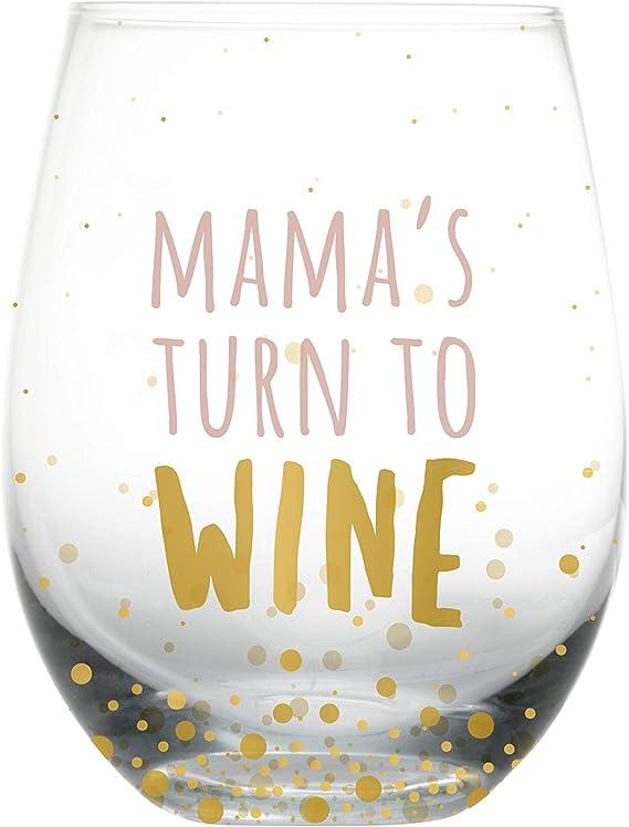 Pearhead Motherhood 'Mama's Turn to Wine' Wine Glass