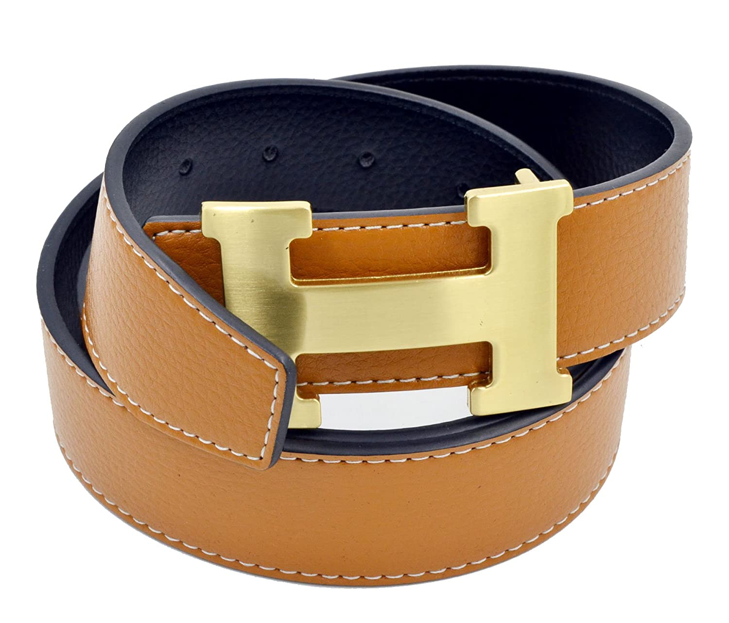 HG ACCESSORY メンズ 9882226124 S|Brown With Gold Buckle Brown With Gold Buckle S