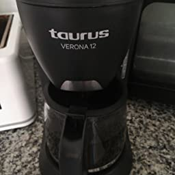 taurus Cafetera Goteo Verona 12, 680 W, 1.2 litros, plástico ...