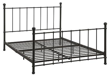 Amazon.com: DHP BrickMill Metal Bed with Headboard and Footboard ...