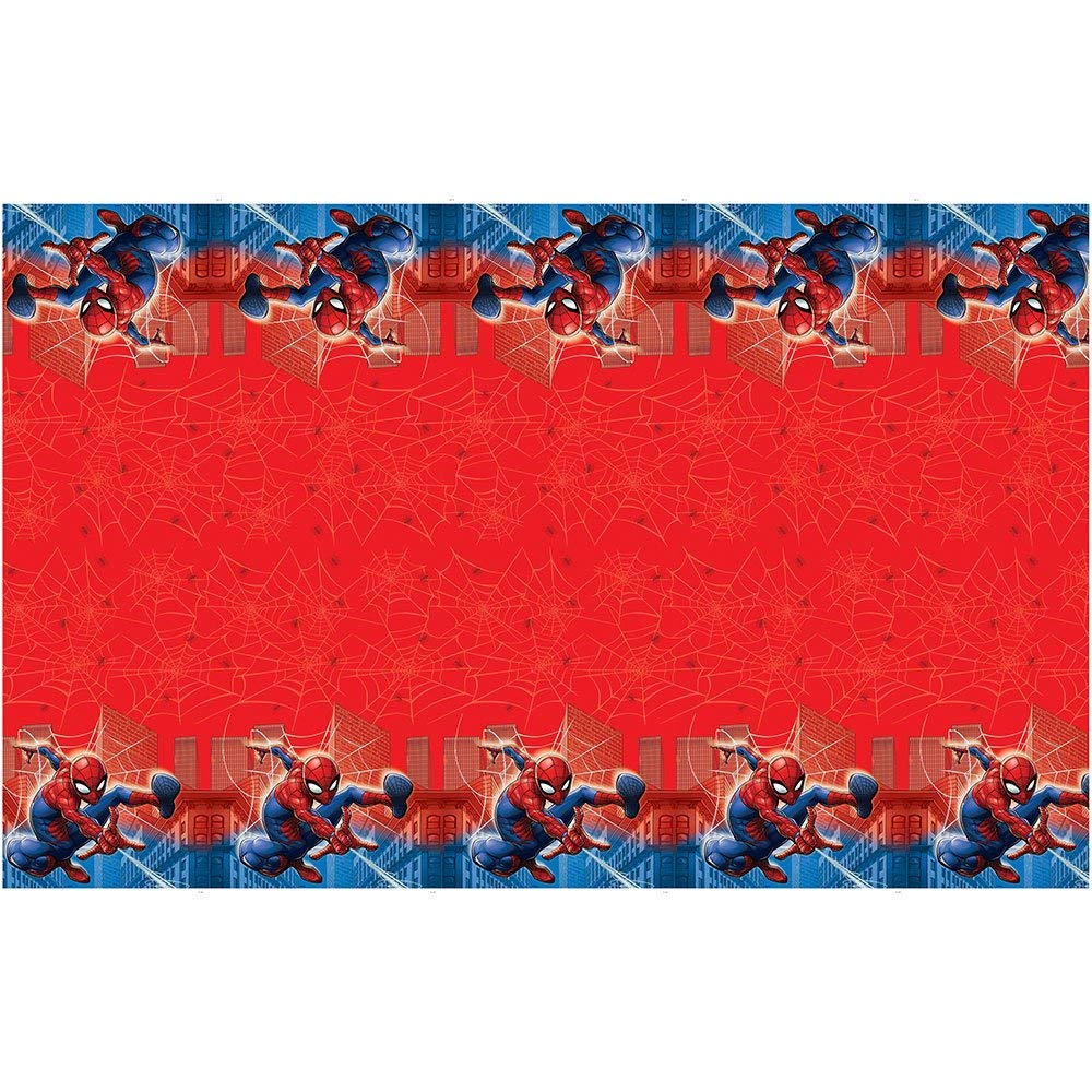 Party Tableware 579590.103 Amscan Bright Pink Flannel-Backed Vinyl Table Cover 6 Ct TradeMart Inc
