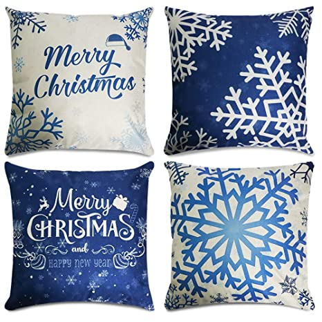 Amazon.com: CDWERD - 4 fundas de almohada de Navidad de 18.0 ...