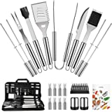 OlarHike BBQ Grill Accessories Set for Men Women, General 22PCS Grilling Accessories Set, Stainless Steel BBQ Tools Gift Uten