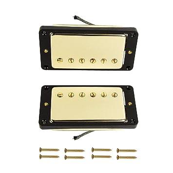 FLEOR pastilla Humbucker para guitarra eléctrica con marco curvado para Les Paul Guitarra Estilo parte: Amazon.es: Instrumentos musicales