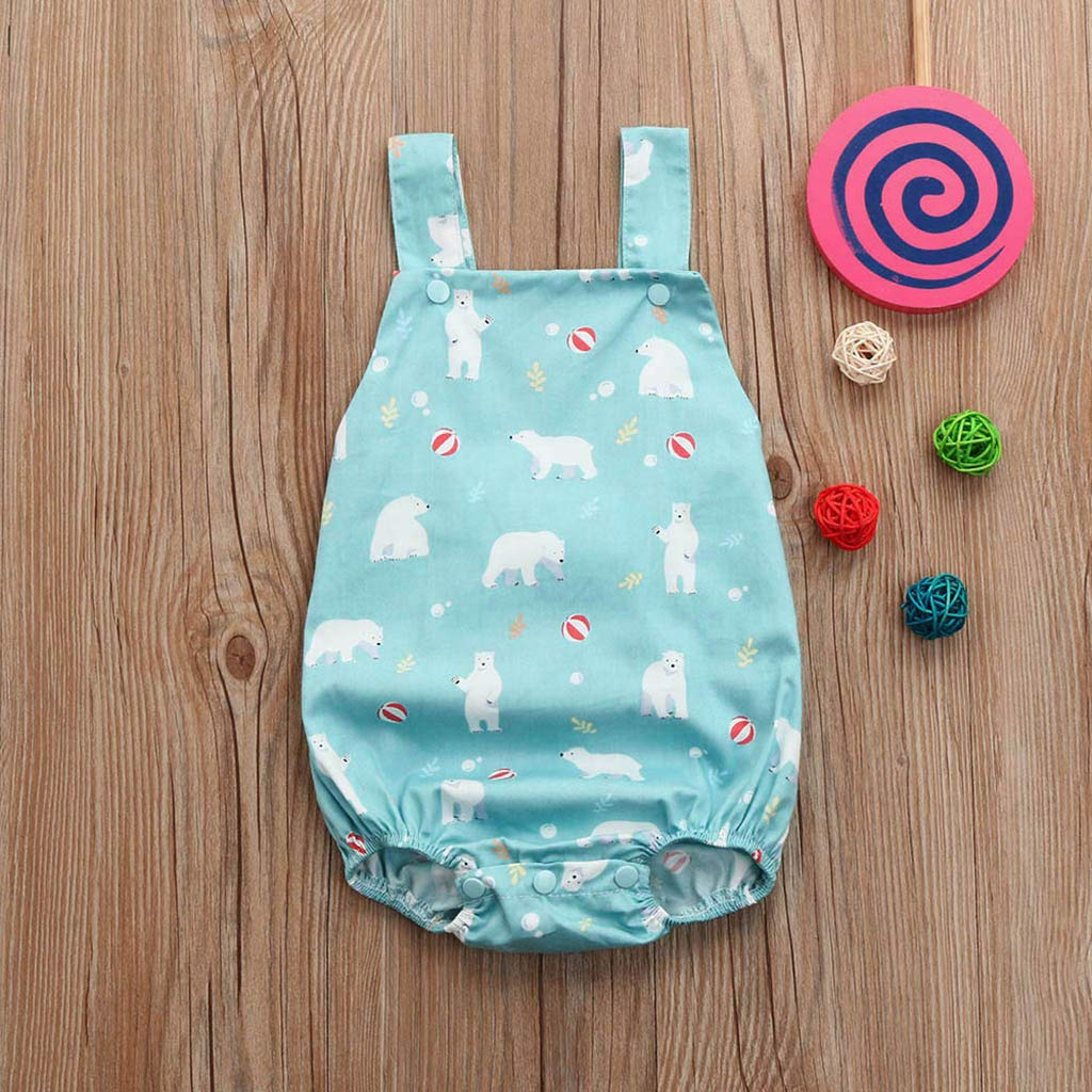 Summer Newborn Kids Clothing Baby Boys Sleeveless Romper Jumpsuit Bodysuit Tops Outfits Clothes Blue by BOOMJIU (Image #2)
